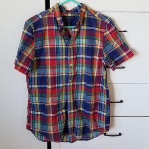 Ralph Lauren mens boys plaid  madera shirt sz xrl